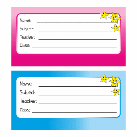 70 school name tags stickers book labels ebay. Black Bedroom Furniture Sets. Home Design Ideas