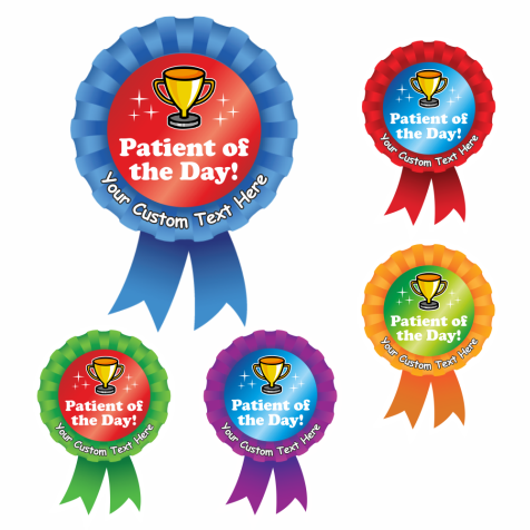 Patient of the Day Rosette Stickers