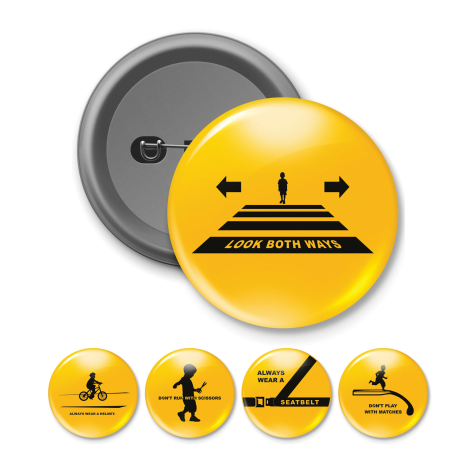 Safety Button Badge Set