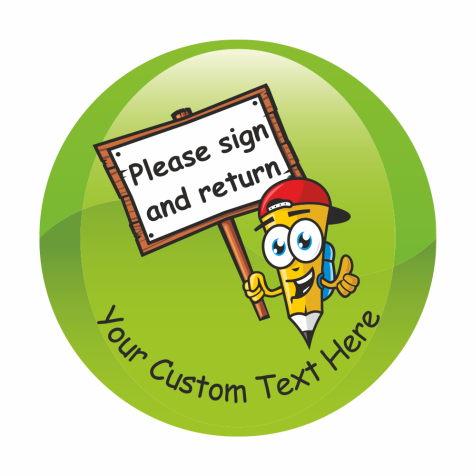 Sign and Return Stickers