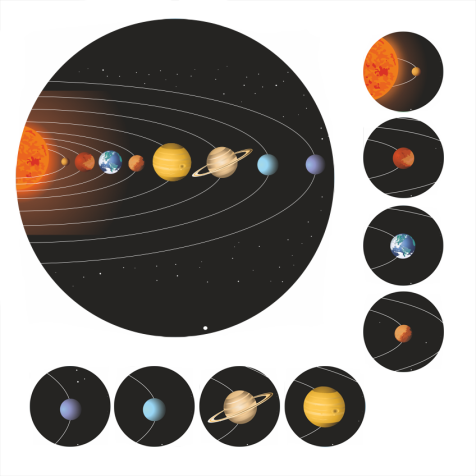 Mini Solar System Stickers