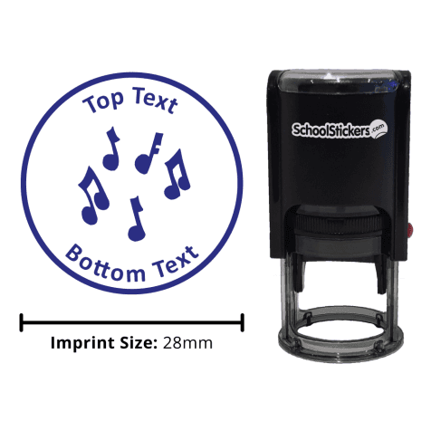Musical Notes Stamp - Blue