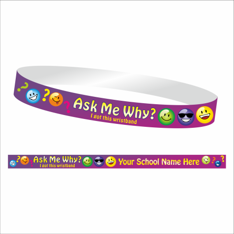 Ask Me Why Wristband