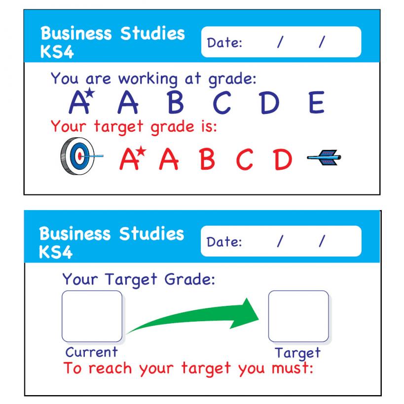 Business studies ks4 assessment stickers