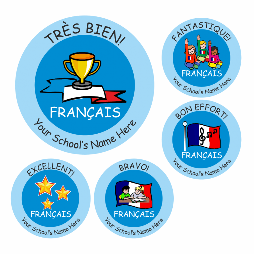 Primary french stickers