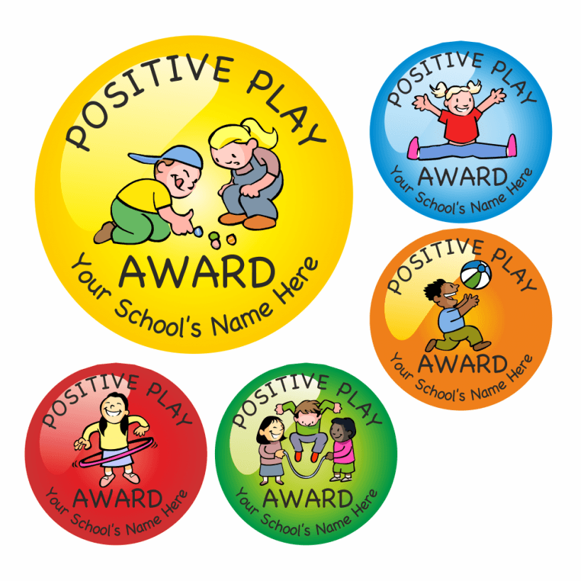 Positive play reward stickers