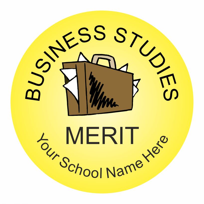 Business studies reward stickers classic
