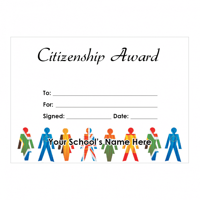 Citizenship Certificate Set 2 For Teachers