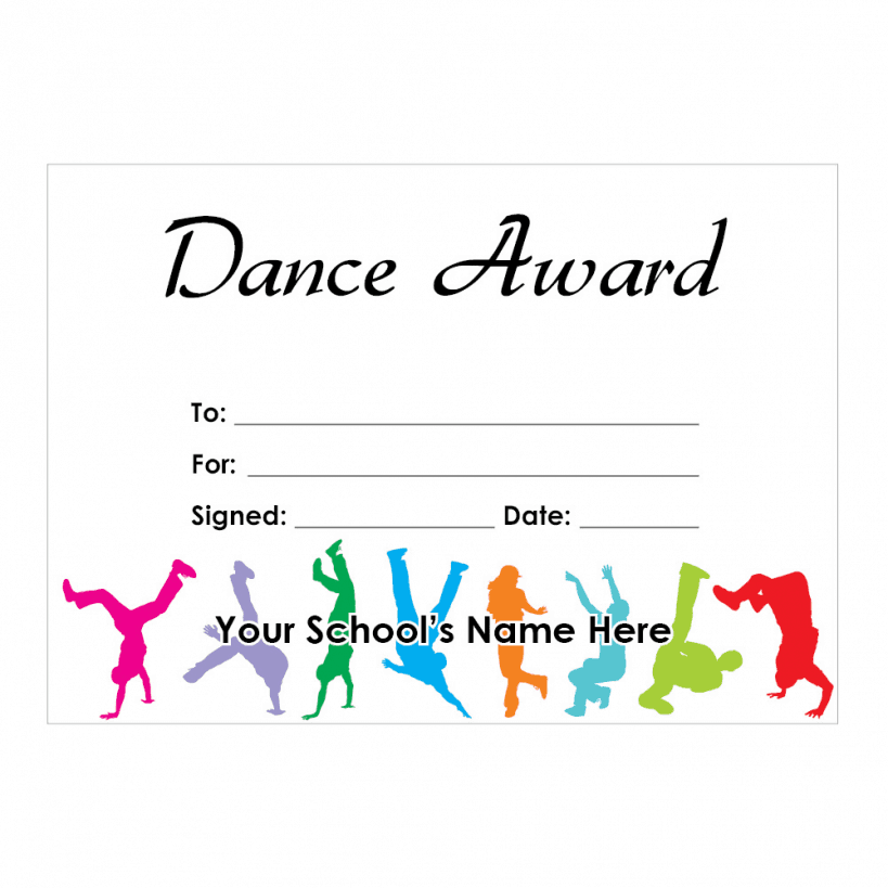 dance award templates  dance award certificate - Commonpence.co