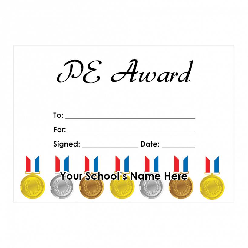 pe certificate certificates stickers schoolstickers