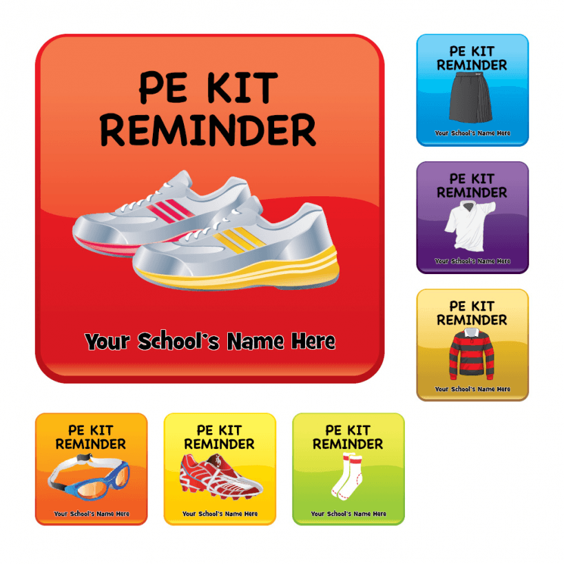 School bags for secondary - Pe Kit Reminder Stickers Stickers For Teachers