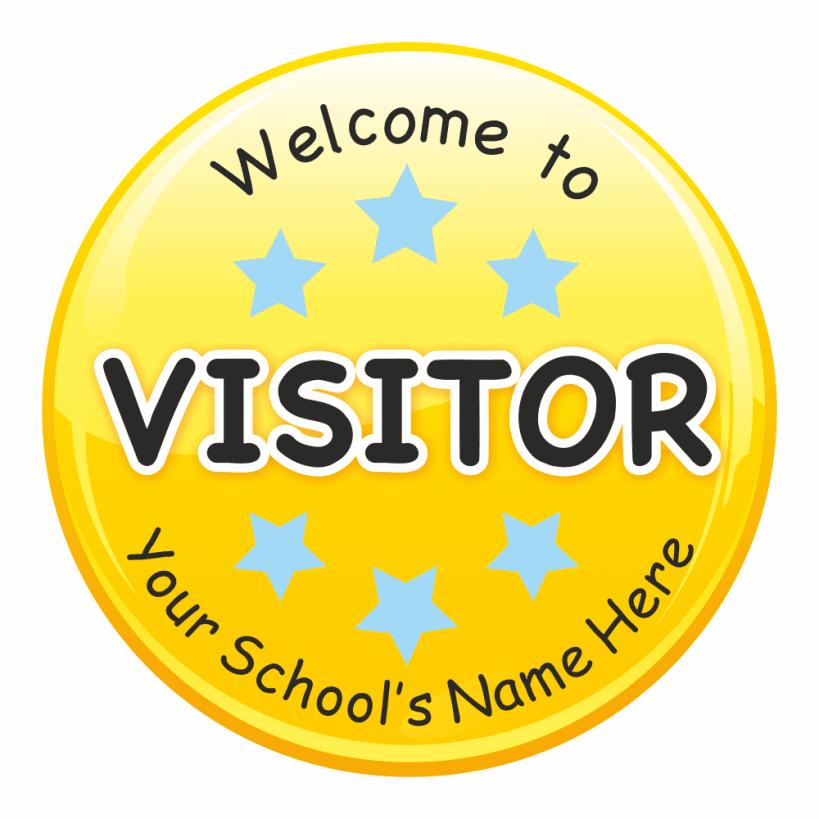 Visitor circular stickers