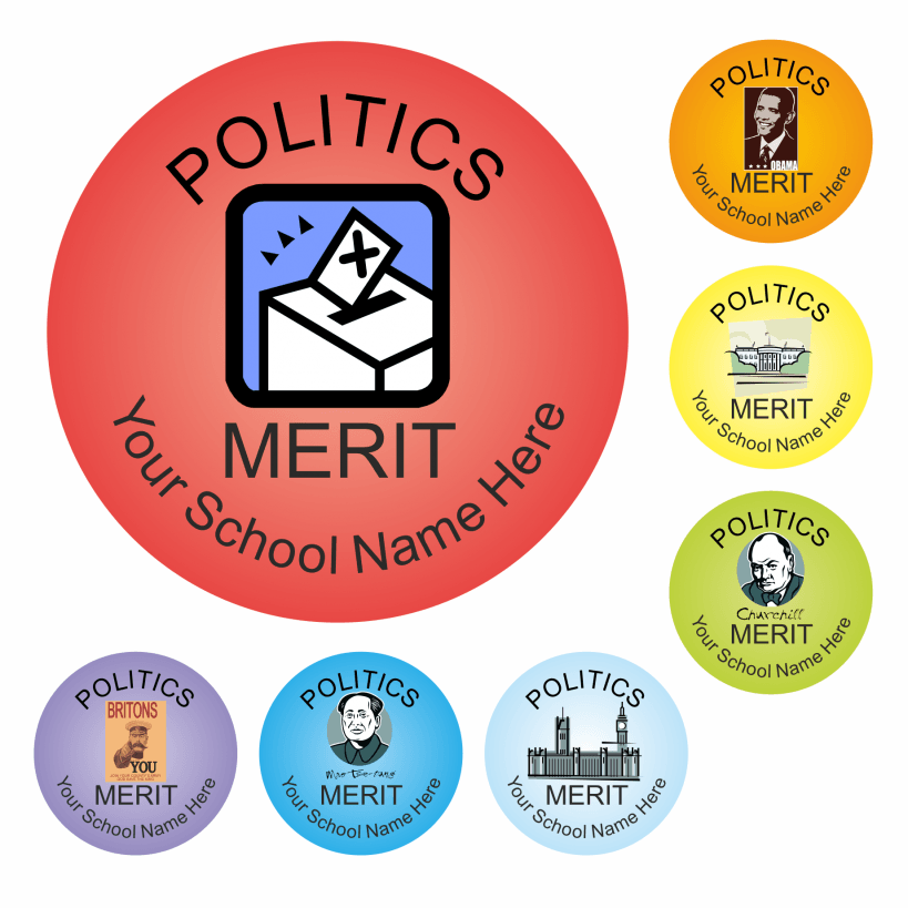 Politics Reward Stickers