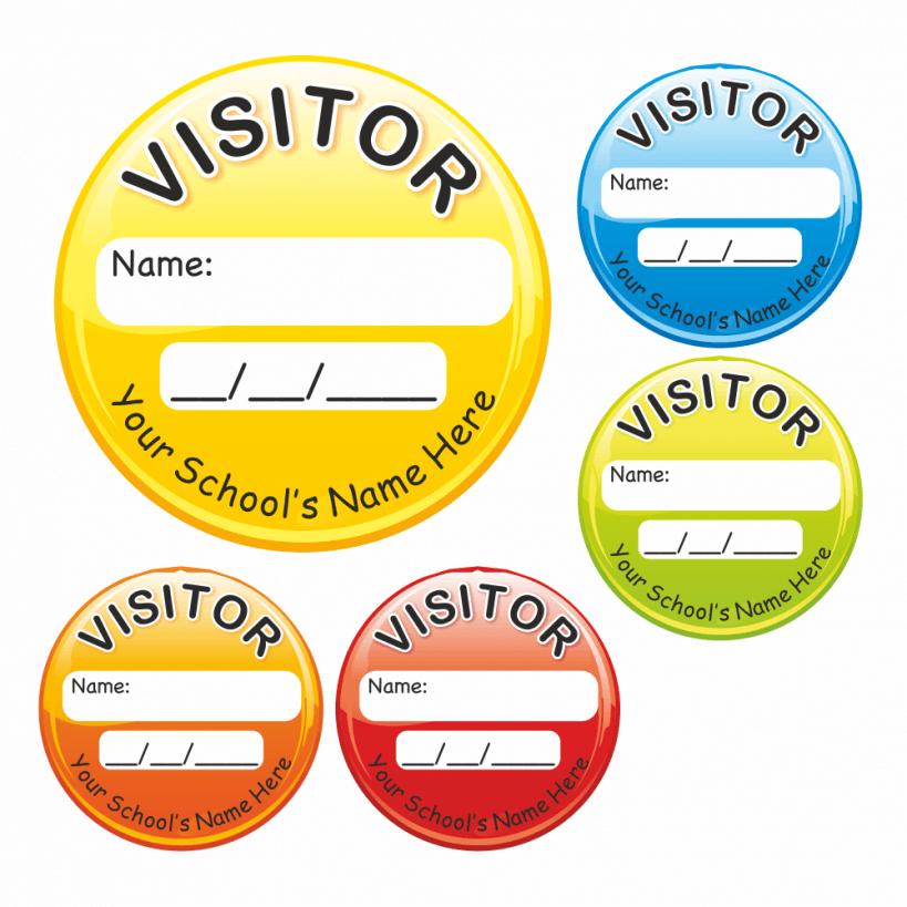 Visitor id circular stickers