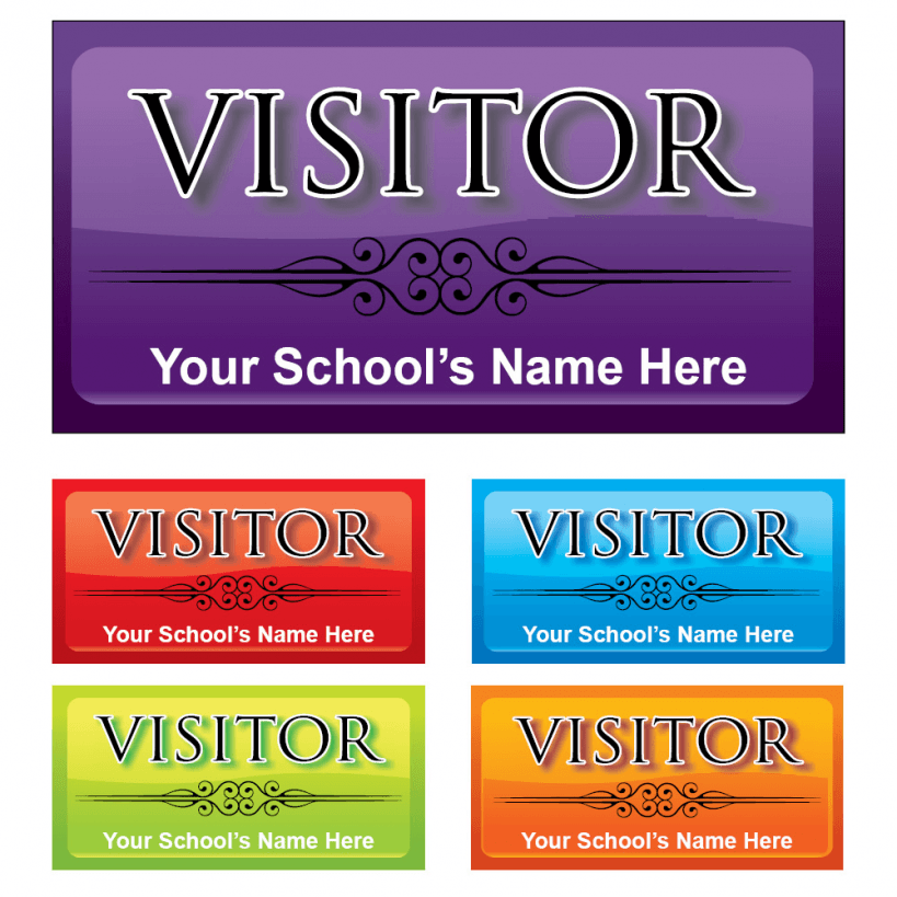 Visitor rectangle stickers