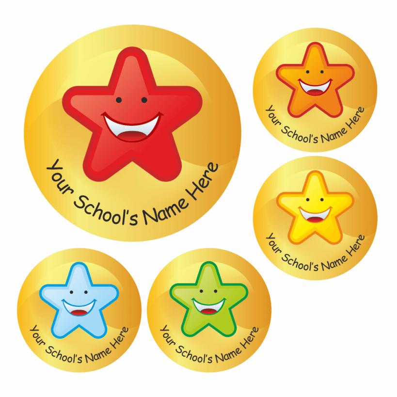 customized star stickers