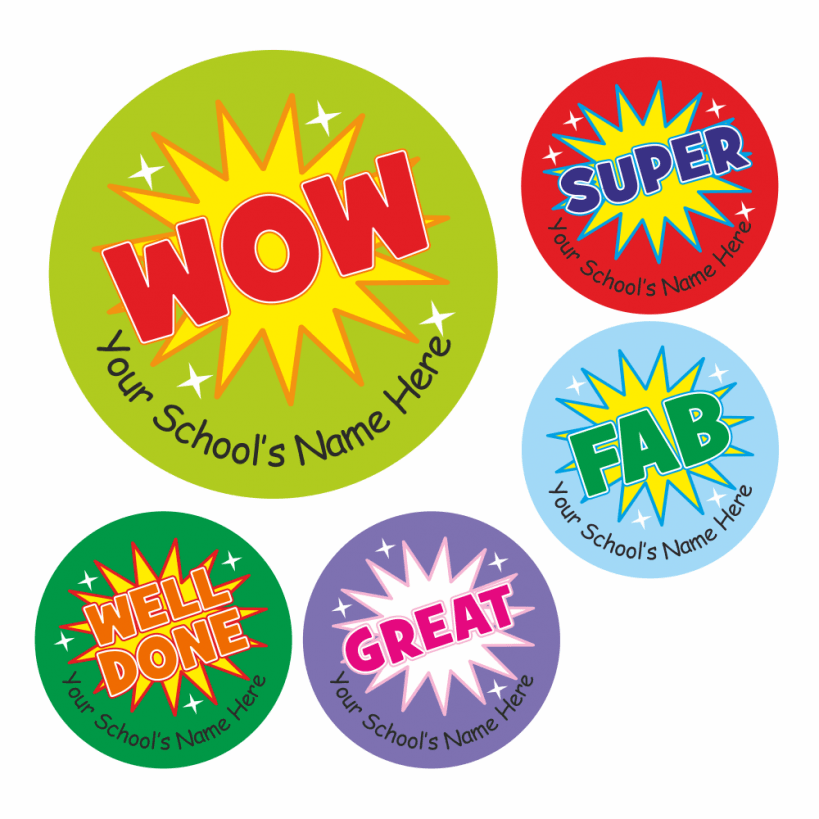 Teachers wow stickers