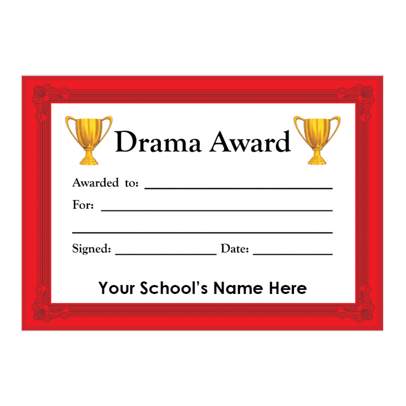 Drama Certificate Set 3 | School Stickers for Teachers