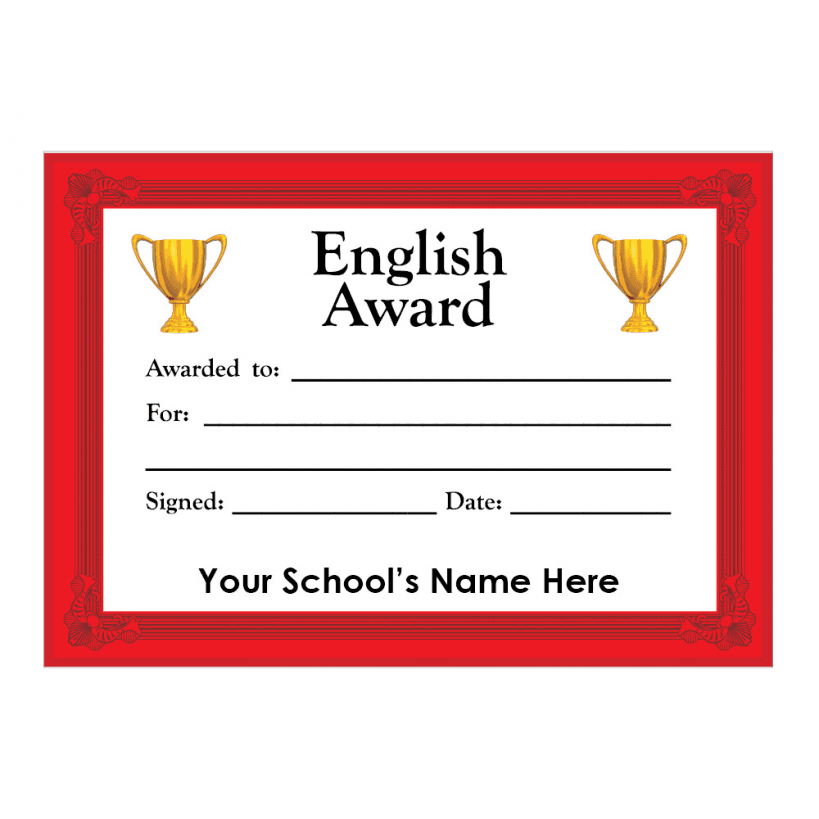 English Certificate Set 3 | Stickers for Teachers