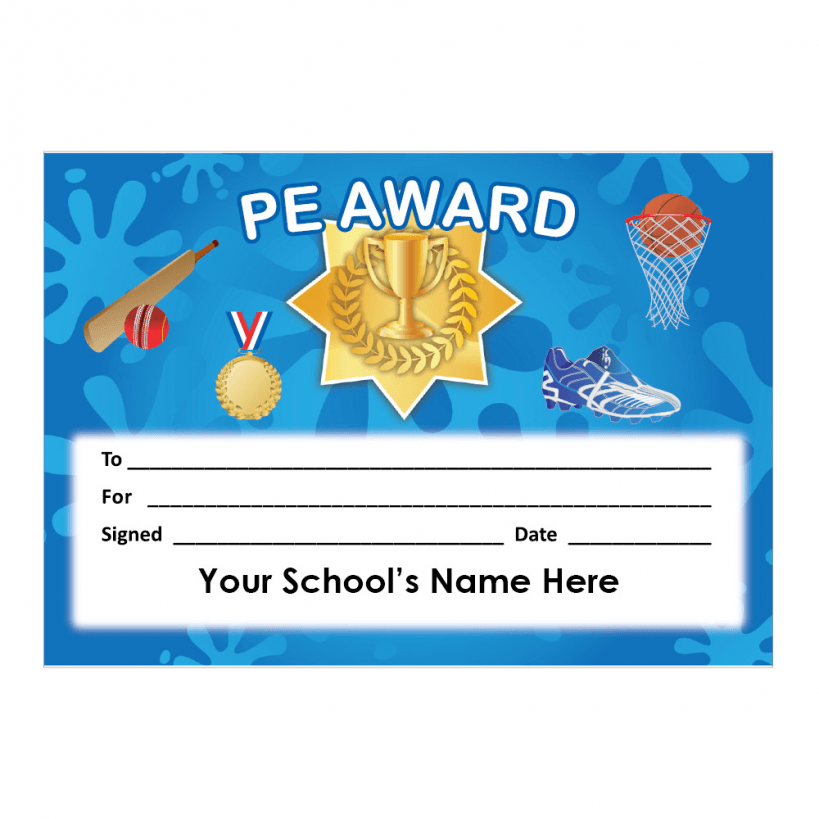 pe certificate  PE Certificate Set 4 | School Stickers for Teachers