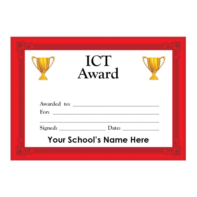 Ict Certificate Set 3 School Stickers For Teachers