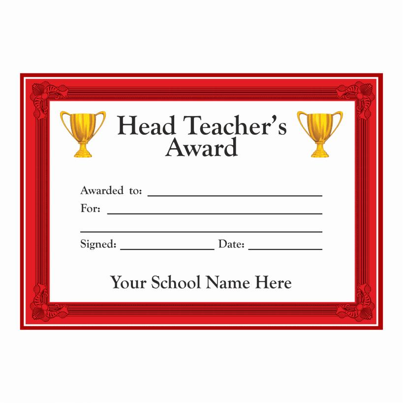 Head Teacher Award Certificates  Stickers for Teachers