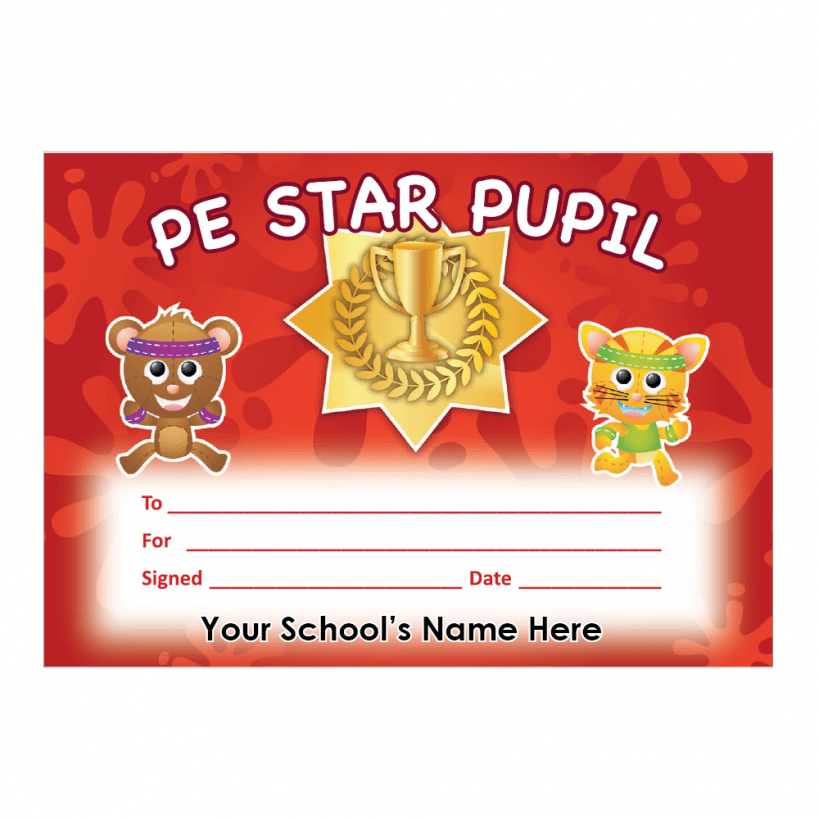 pe certificate  PE Primary Certificate Set 1 | Stickers for Teachers