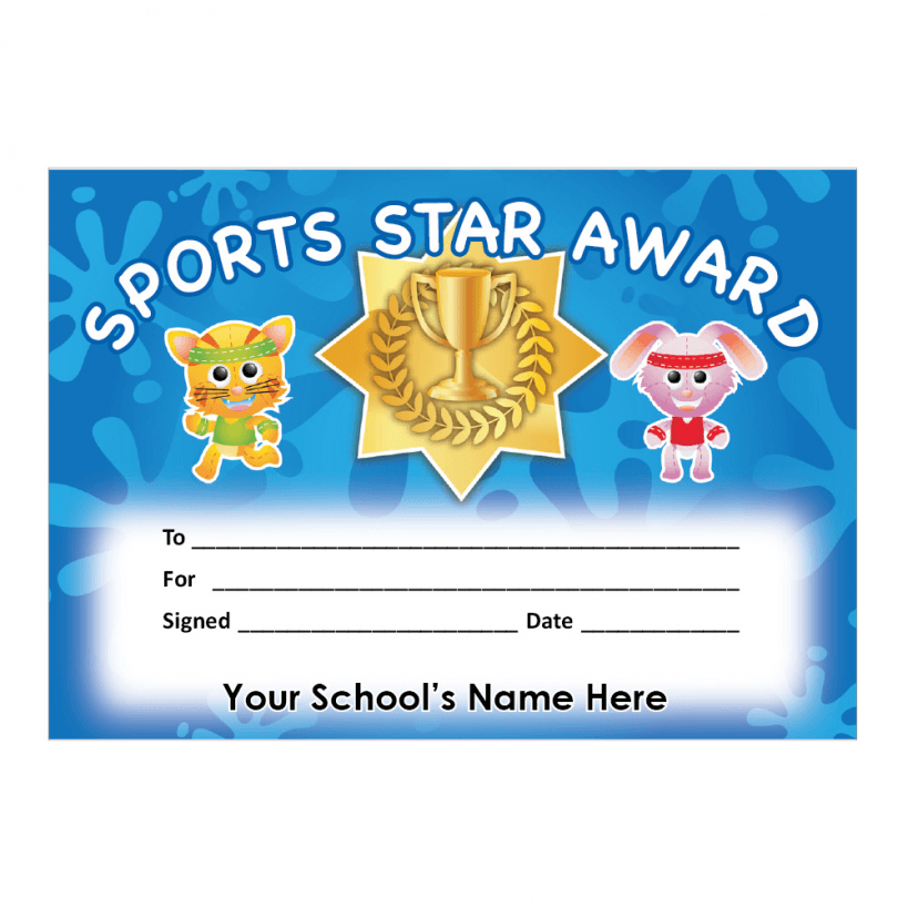 certificate pe primary certificates pupil schoolstickers
