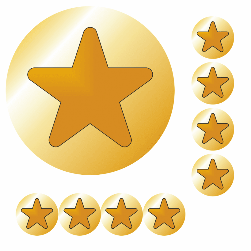 Gold Star Easy Peel Stickers