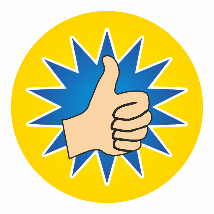 Mini Thumbs Up Stickers School Stickers For Teachers