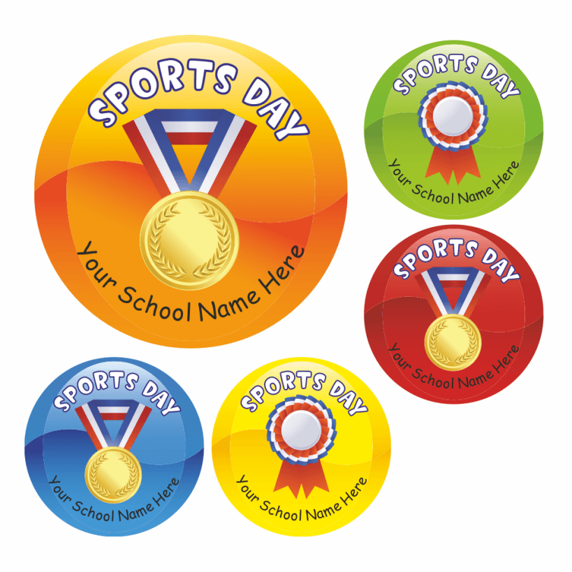 Sports day medal stickers