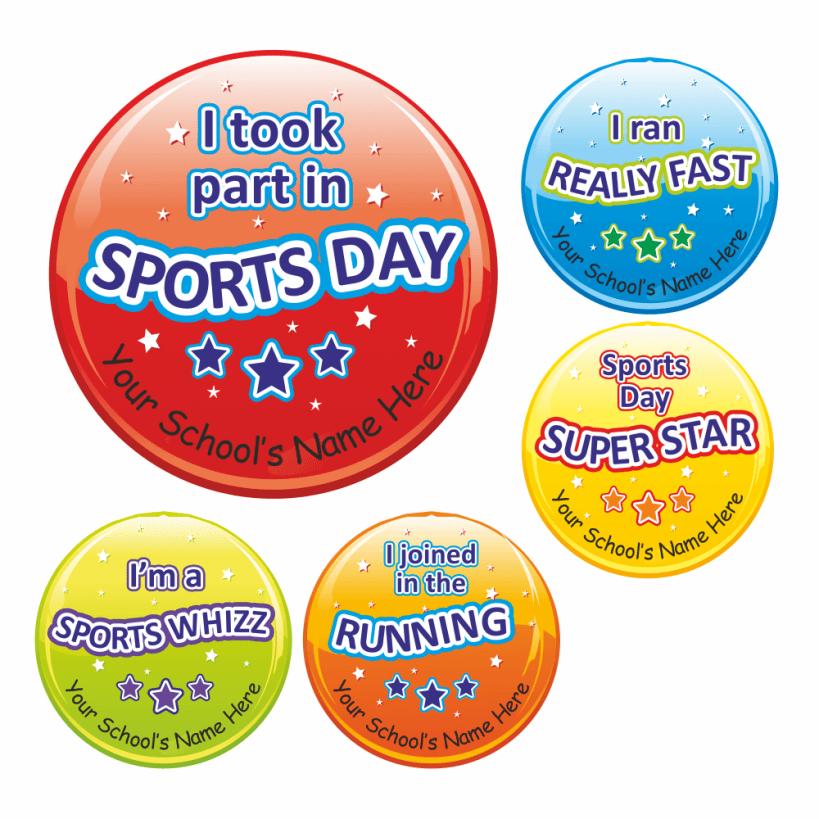 Sports Day Reward Stickers Set 4 For Teachers
