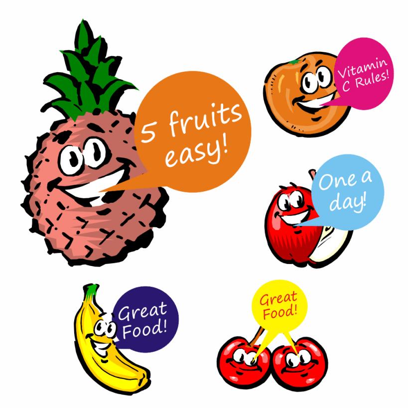 Talking Fruit Stickers