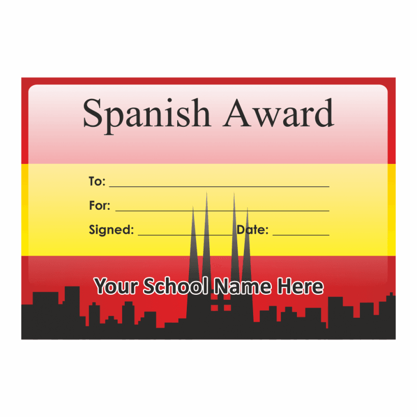 Spanish Certificate Set 1 For Teachers