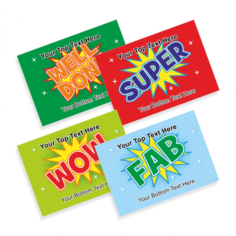 teachers wow pick and mix praise postcards