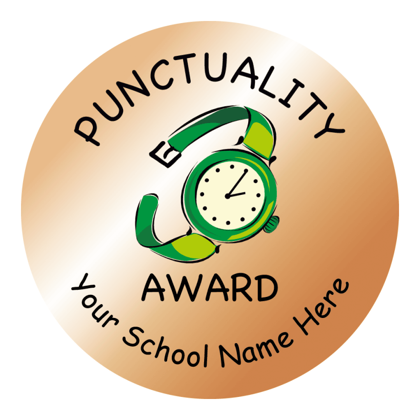 Bronze Punctuality Stickers | - 142.3KB