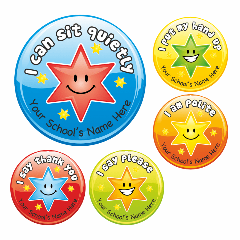 Marvelous Manners Stickers School Stickers