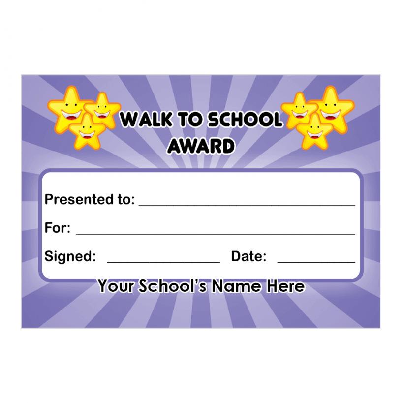 Walk To School Certificates | School Stickers