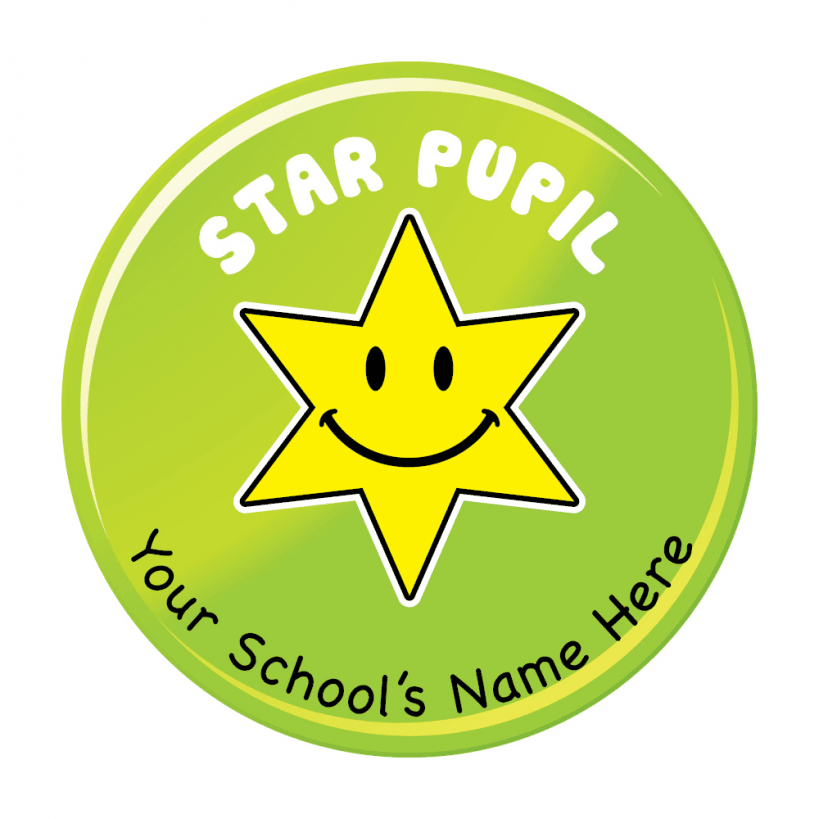 Star pupil stickers