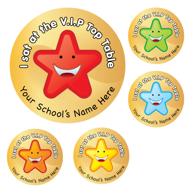 VIP Top Table Stickers  School Stickers For Teachers -> Sticker Table