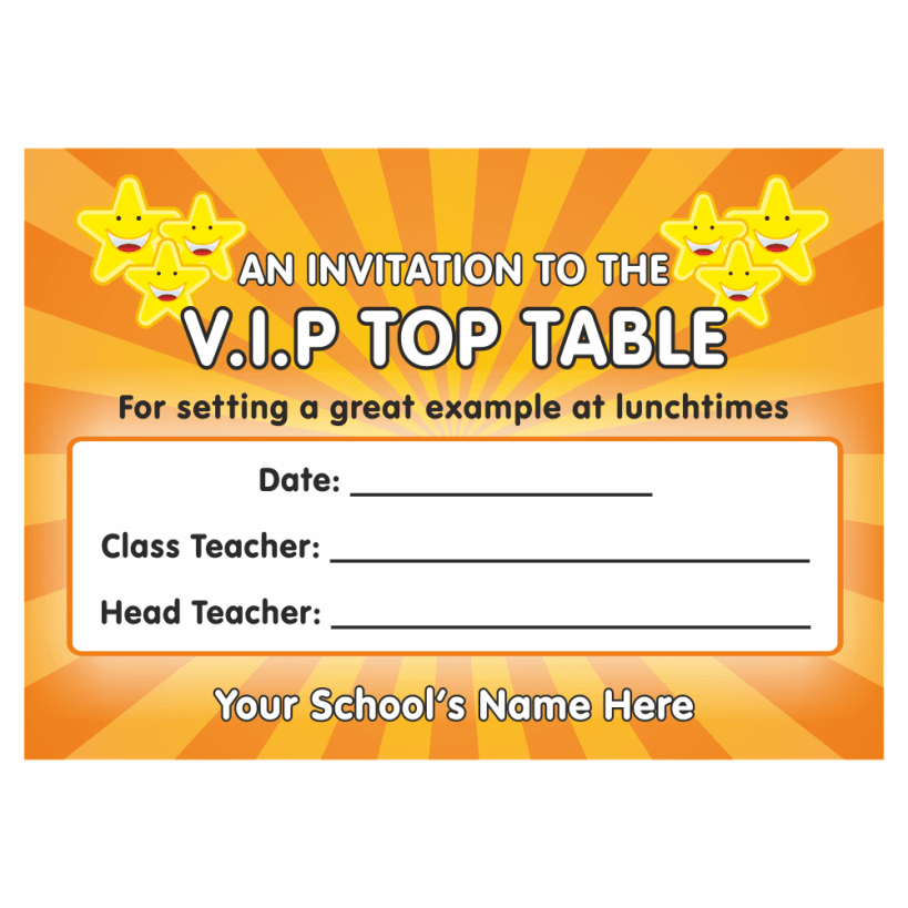 Bags for high school students - Vip Top Table Certificates For Teachers