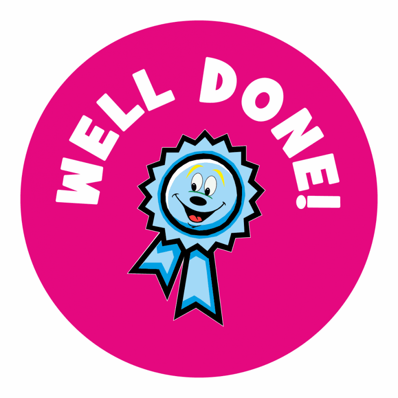 Well done praise stickers school stickers for teachers