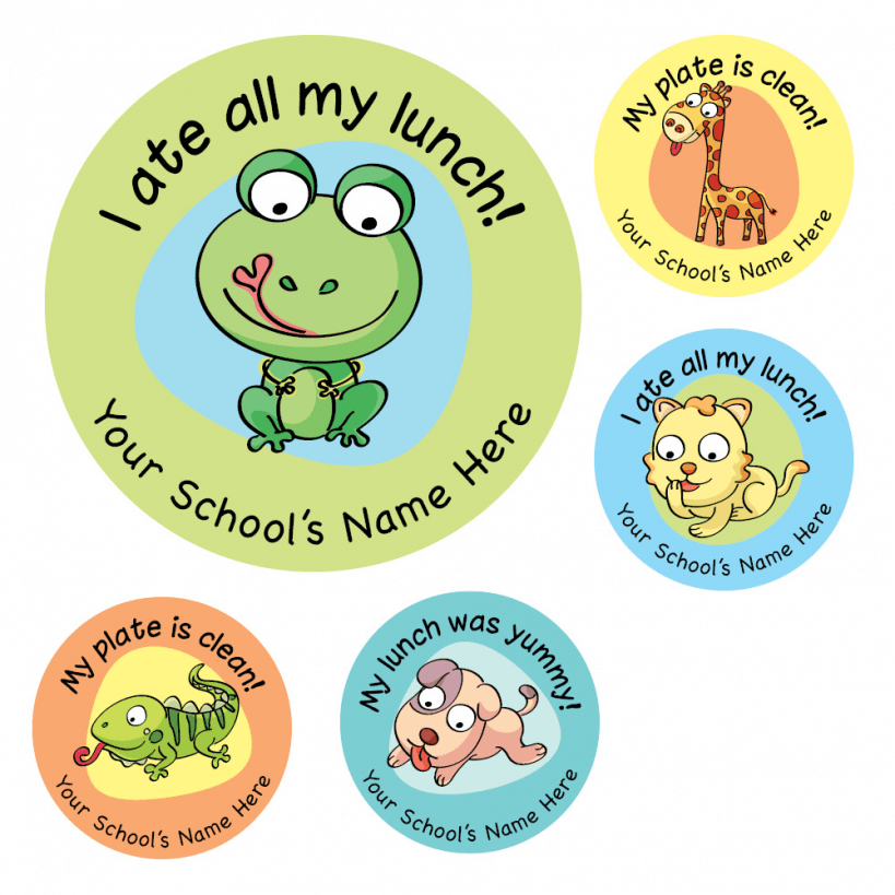 Lunchtime Animal Stickers School Stickers
