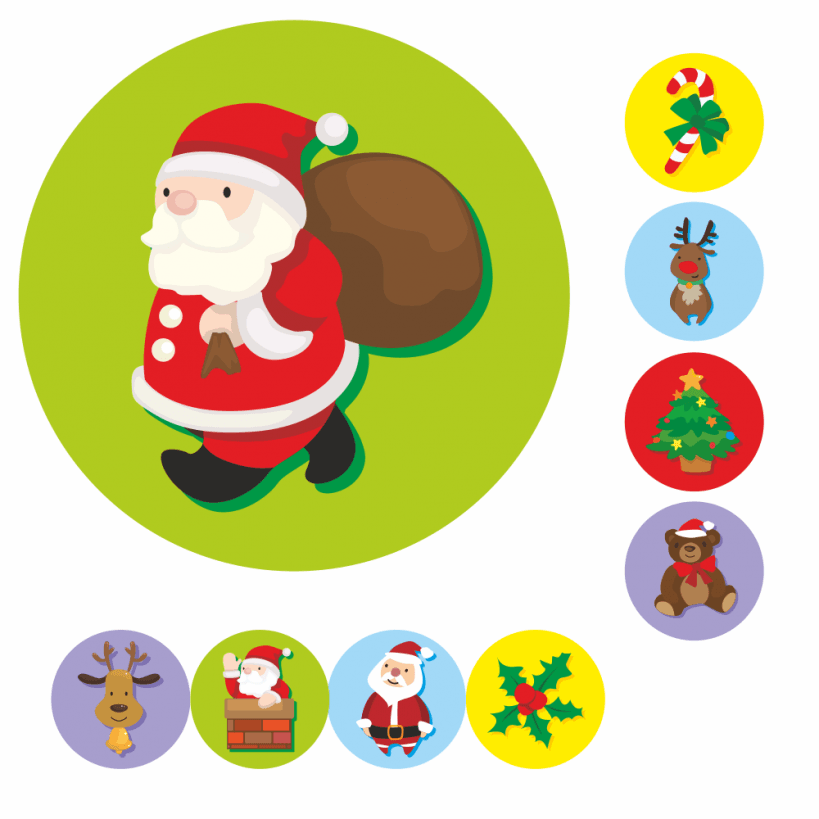 Christmas Stickers.Mini Christmas Stickers