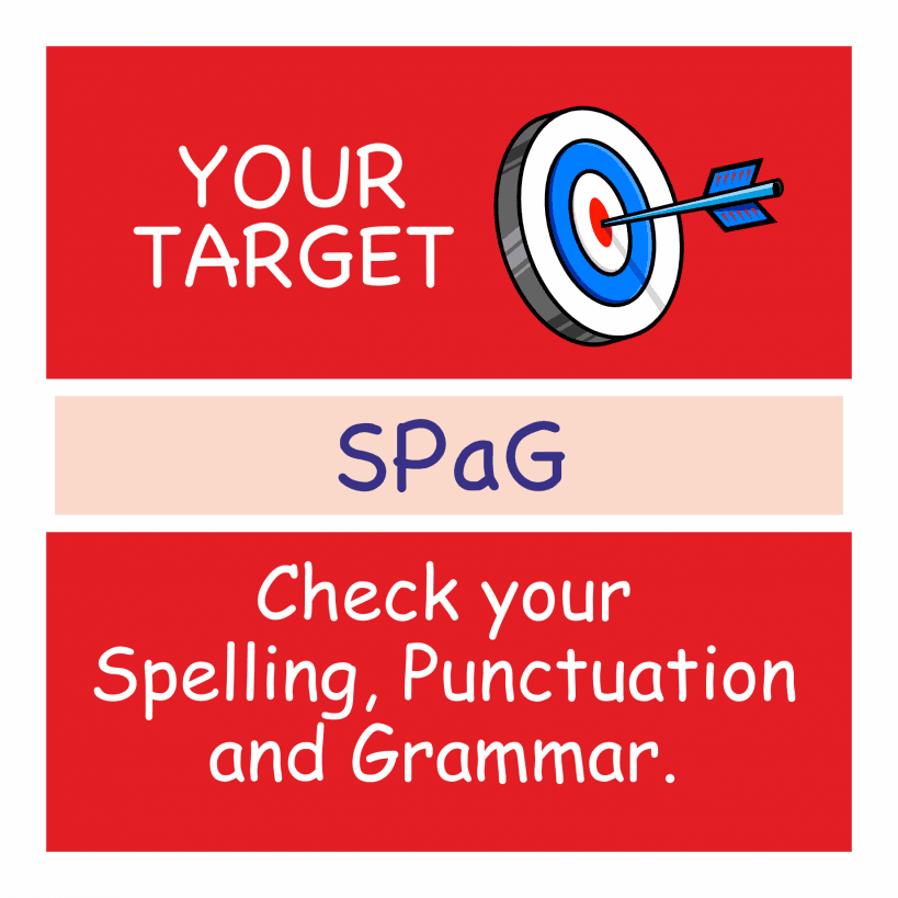 spelling punctuation and grammar target stickers