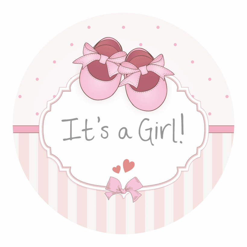 It S A Girl Stickers