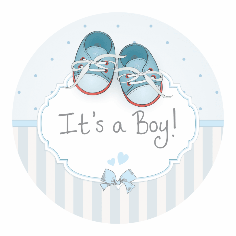 It S A Boy Stickers