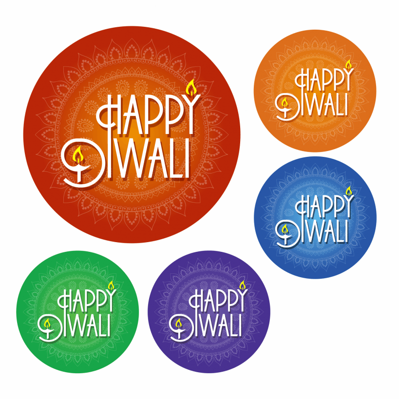 Our Diwali Stickers Have 5 Different Brightly Coloured Designs Theyre Perfect For Sticking On Gifts Or Using As Decorations At Your Celebration