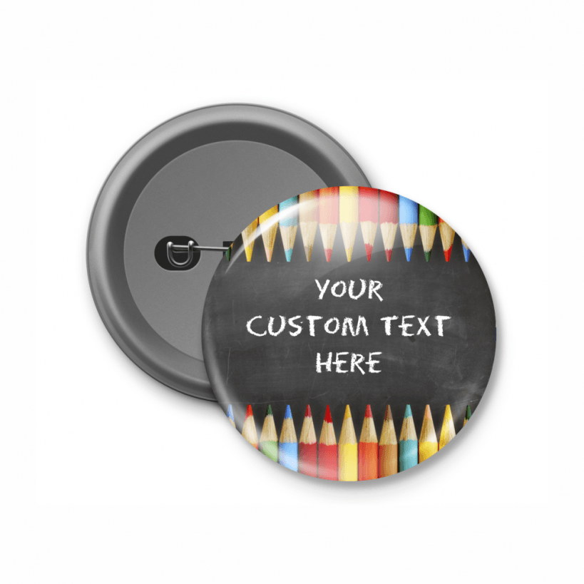 Button Badge Design chalkboard design customised button badge