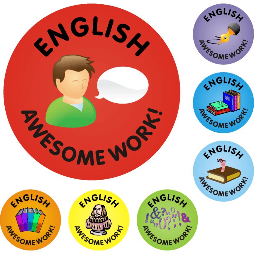 Sticker Englisch